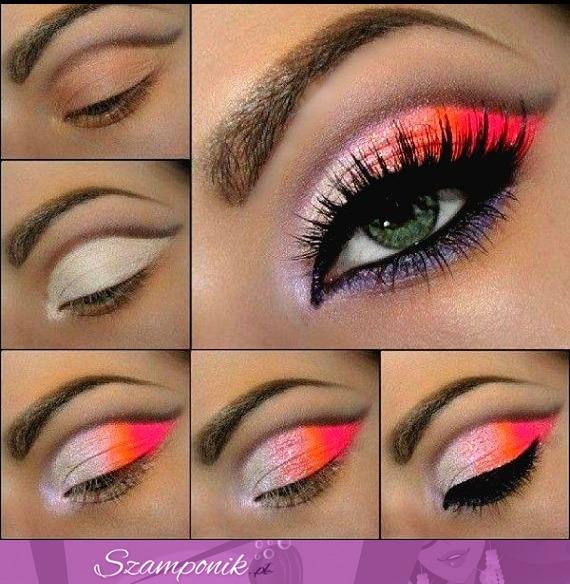 Szamponikpl Kolorowy Makijaż Krok Po Kroku